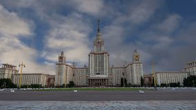 Lomonosov Moscow State University, main building, Russia.  stock video footage
