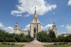 Lomonosov Moscow State University, main building Stock Photography