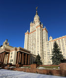 Lomonosov Moscow State University, main building, Russia Royalty Free Stock Photos