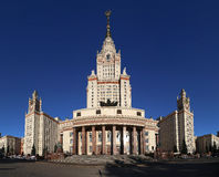 Lomonosov Moscow State University, main building, Russia Stock Image