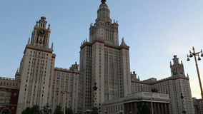 Lomonosov Moscow State University, main building, Russia stock video footage