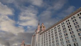 Lomonosov Moscow State University, main building, Russia.  stock video