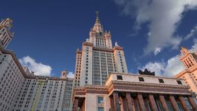 Lomonosov Moscow State University, main building, Russia.  stock footage