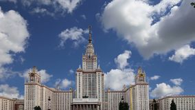 Lomonosov Moscow State University, main building, Russia ,. Lomonosov Moscow State University, main building, Russia stock footage