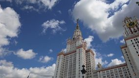 Lomonosov Moscow State University, main building, Russia ,. Lomonosov Moscow State University, main building, Russia stock video