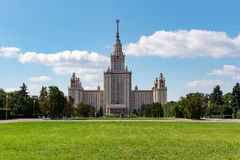 Lomonosov Moscow State University MSU. View of the main building on Sparrow Hills Royalty Free Stock Images