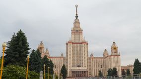 Moscow State University stock video footage