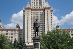 Lomonosov Moskvadelstatsuniversitet, huvudbyggnad, Ryssland Royaltyfri Foto
