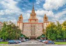 Lomonosov State University building in Moscow, Russia Stock Photography