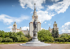 Lomonosovuniversiteit in Moskou Stock Foto