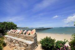 Lompaya-Hafen schließen an Koh Tao an Stockfoto