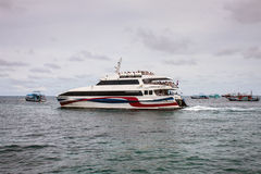 Lomprayah high speed catamaran Royalty Free Stock Photo