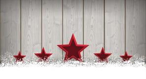 Lon Christmas Card Wooden Laths 5 stelle Fotografie Stock Libere da Diritti