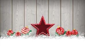 Lon Christmas Card Wooden Laths-Stersnuisterijen Stock Foto