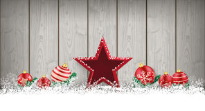 Lon Christmas Card Wooden Laths stjärnastruntsaker Arkivfoto