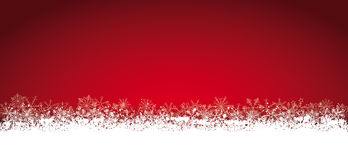 Lon Red Christmas Card Snowflakes Royalty Free Stock Images