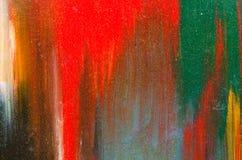a lona é coberta com a dor vermelha Imagem de Stock