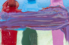 Lona azul pintada Fotografia de Stock Royalty Free