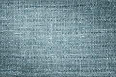 Lona de lino azul La imagen de fondo, textura foto de archivo libre de regalías