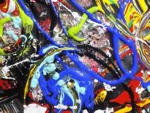 Lona de pintura abstracta colorida para el diseño casero fotos de archivo libres de regalías