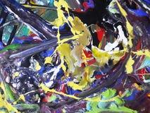 Lona de pintura abstracta colorida para el diseño casero fotos de archivo