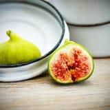 Lona e cartaz do fruto do figo do vintage Foto de Stock Royalty Free