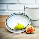 Lona e cartaz do fruto do figo do vintage Fotografia de Stock Royalty Free