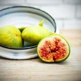 Lona e cartaz do fruto do figo do vintage Foto de Stock