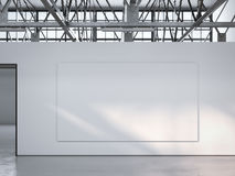 Lona na parede no interior brilhante do sótão rendição 3d Imagens de Stock