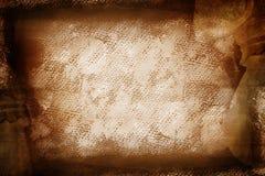 Lona pintada marrón de Grunge Foto de archivo libre de regalías