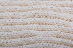 Lona tejida a mano hecha de los géneros de punto cremosos Imagen de archivo libre de regalías