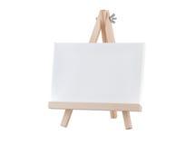 Lona vazia no suporte de madeira Fotos de Stock Royalty Free