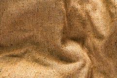 Lona velha, pano de saco marrom, textura bege da tela do vintage Fotos de Stock Royalty Free