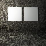 lonas del espacio en blanco 3D en el interior de piedra Fotos de archivo libres de regalías