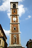 Lonate pozzolo old abstract in  italy     church tower  sunny da Royalty Free Stock Photography