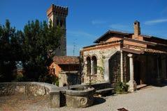 Lonato, Brescia. Village médiéval Images stock