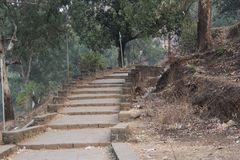 Lonavala Steps. This beautiful steps finds in india, lonavala. made from the huge stones Stock Photo