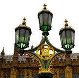 lond天空的欧洲在灯笼和抽象照明的 免版税库存照片
