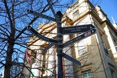 Lond-Touristenattraktionswegweiser Stockbild