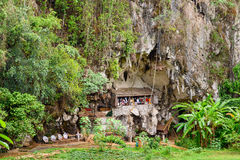 Londa is cliffs and cave burial site in Tana Toraja, South Sulaw Stock Image