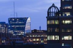 Londdon city at night royalty free stock photo