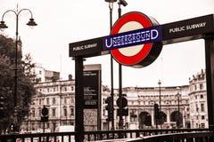 Londen подземное Стоковая Фотография