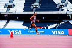 Londen 2012: atleet het lopen Stock Afbeeldingen