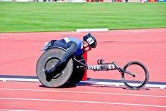 Londen 2012: atleet op rolstoel Stock Afbeelding