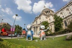 Londen 2012 Olympics mascotte Stock Afbeeldingen