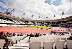 Londen 2012: olympisch stadion Stock Foto