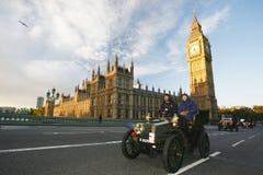 2014, Londen aan Brighton Veteran Car Run Royalty-vrije Stock Afbeeldingen