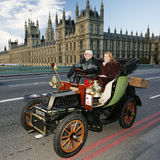 2014, Londen aan Brighton Veteran Car Run Royalty-vrije Stock Foto's