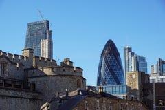 LONDEN - APRIL 25: Het Augurkgebouw in Londen, werd het gebouw toegekend een Koninklijk Instituut van Britse Architecten Stock Foto