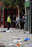 LONDEN - AUGUSTUS 09: Het gebied van de Verbinding van Clapham is sacke Stock Fotografie